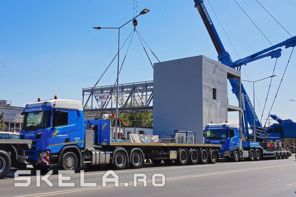 Skela Industries - productie, transport si montaj pasarela metalica pietonala Bucuresti, Berceni, Popesti-Leordeni
