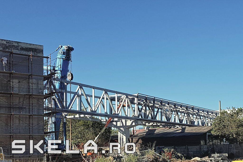 Skela Industries - structura metalica pasarela pietonala Bucuresti, Berceni, Popesti-Leordeni
