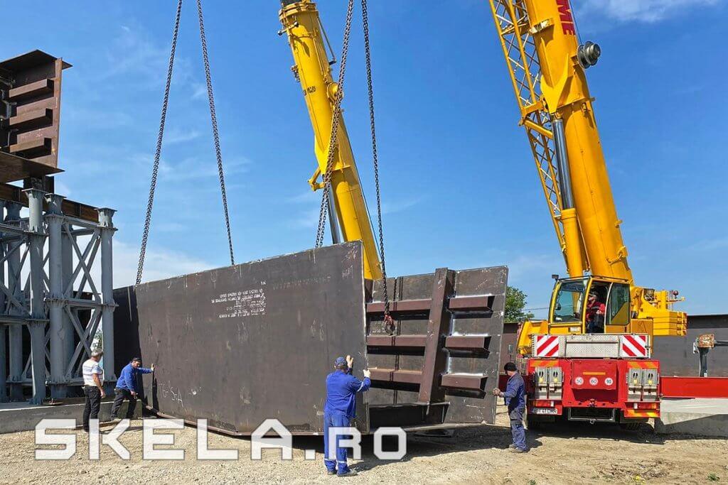 Fabrica Skela Industries - structura metalica tablier pod rutier Centura Bacau A7 (Autostrada Moldovei)
