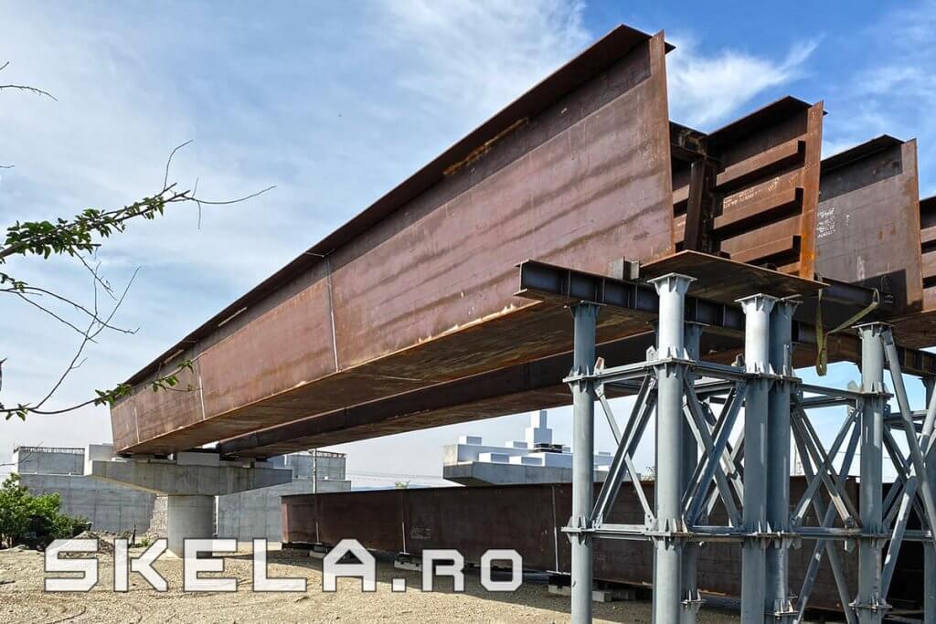 Skela Industries - structura metalica pod rutier Centura Bacau A7 - Autostrada Moldovei