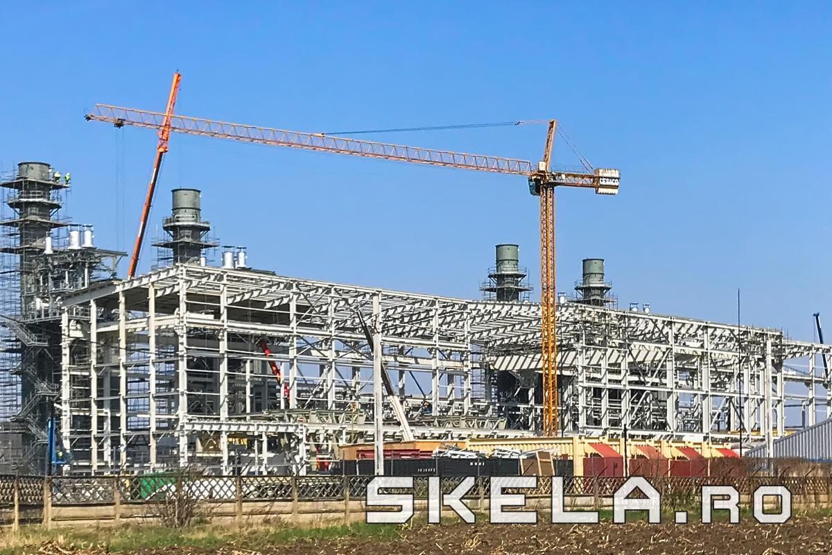 Structuri metalice industriale centrala productie energie electrica