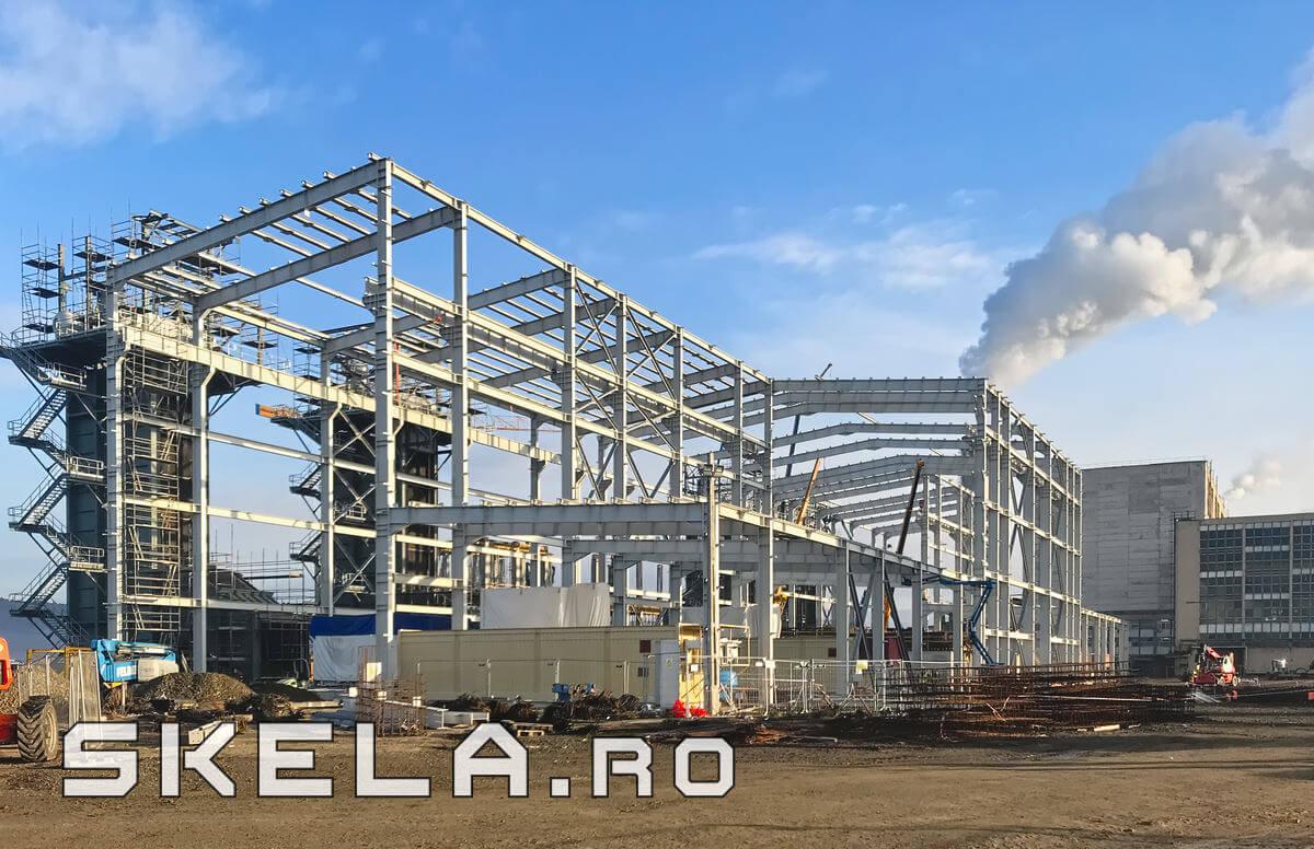 Structuri metalice industriale - hale, estacade tehnologice, estacade pod rulant, structuri metalice pt. instalatii